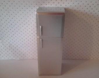 Dolls house miniature fridge freezer 1 12th scale.