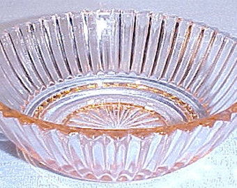 Queen Mary Pink Depression Glass Bowl, 4 inch