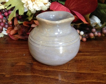 Cute Little Stoneware Bud Vase