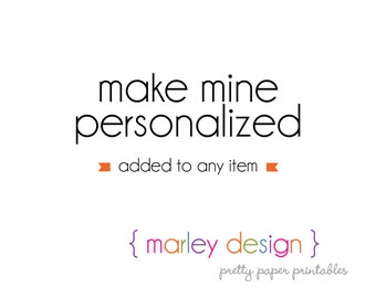 Personalize An Item