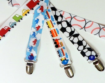 3 for 12 Pacifier Clip set For Baby Boy pick 3 colors baby boy shower gift