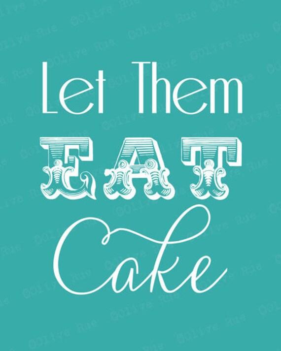digital download turquoise let them eat cake modern art print. Black Bedroom Furniture Sets. Home Design Ideas