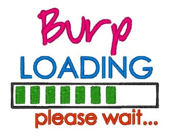 BURP Loading INSTANT DOWNLOAD. Machine Embroidery Design Digitized File