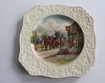 Vintage Grimwades Royal Winton Ascot Plate Coach Horses