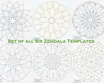 Set of all Six Zendala Templates - Printable Templates