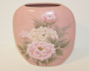 MARK DOWN Victorian peony vase TOYO Japan  / Royal Bouquet Shabby