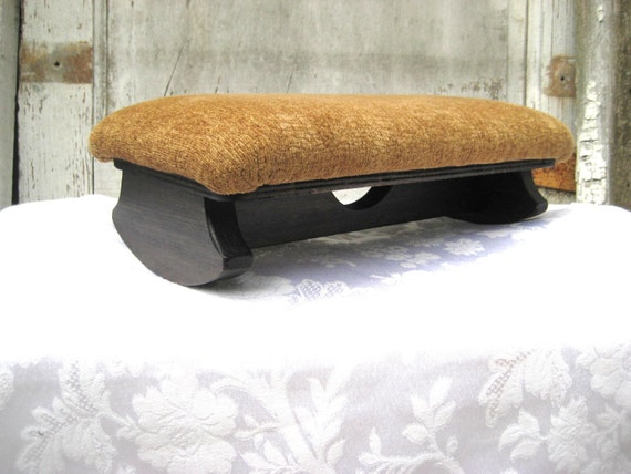 Small Foot Stool Rocking Stool Upholstered By Endlesslyvintage