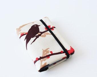 Gift Card Holder, Card Case, Business Card Holder, Credit Card Organizer - Bird - Brown, Orange