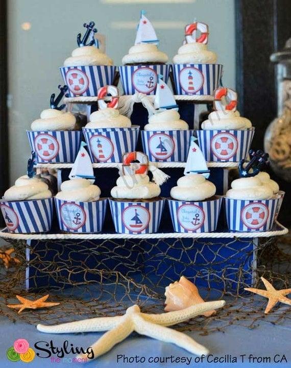 Nautical Cupcake Wrappers