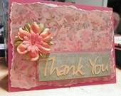 Thank You card with envelope, it can also be for a birthday as well.