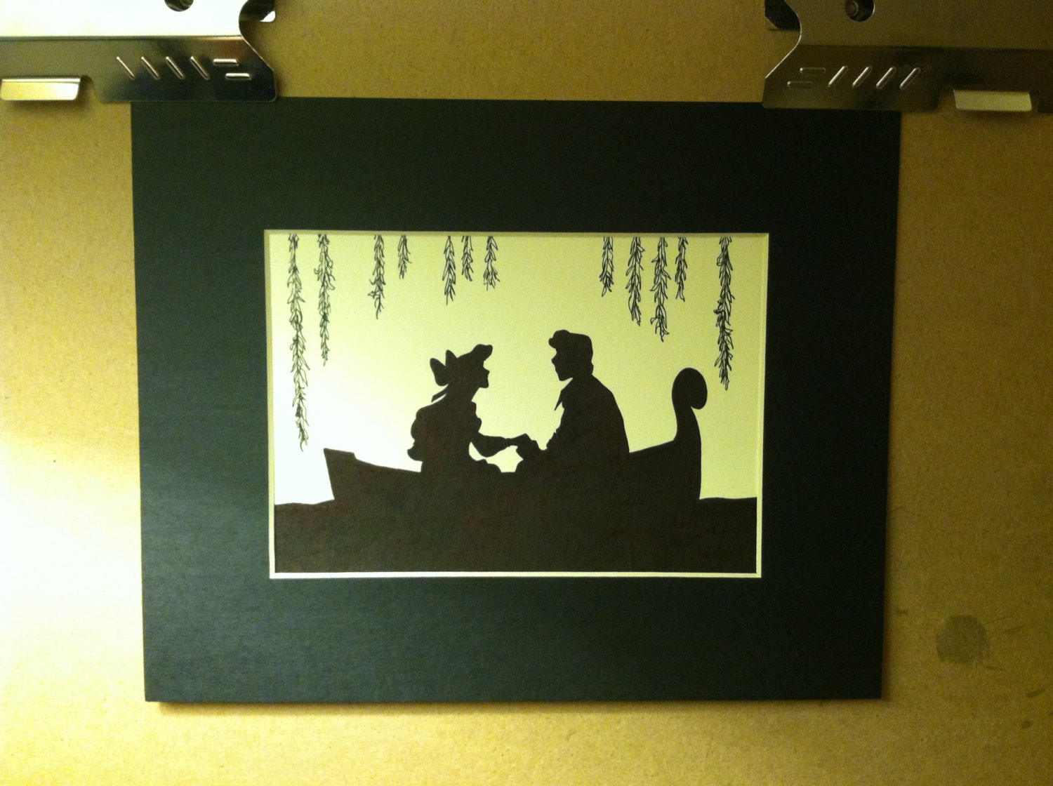 Disney Ariel and Eric Silhouette