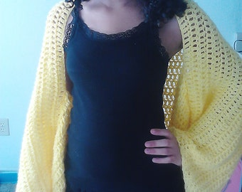 Crochet BatWing Shrug Sweater One Size Fits All