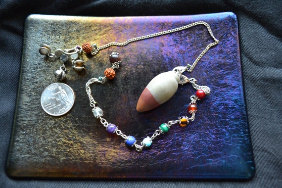 Shiva Lingham Pendulum with Fairy Bells, and 2 chains