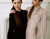 Tuck Sparkle Dress - Beige/Nude or Black ..Size XS, S, M, L Party Dress