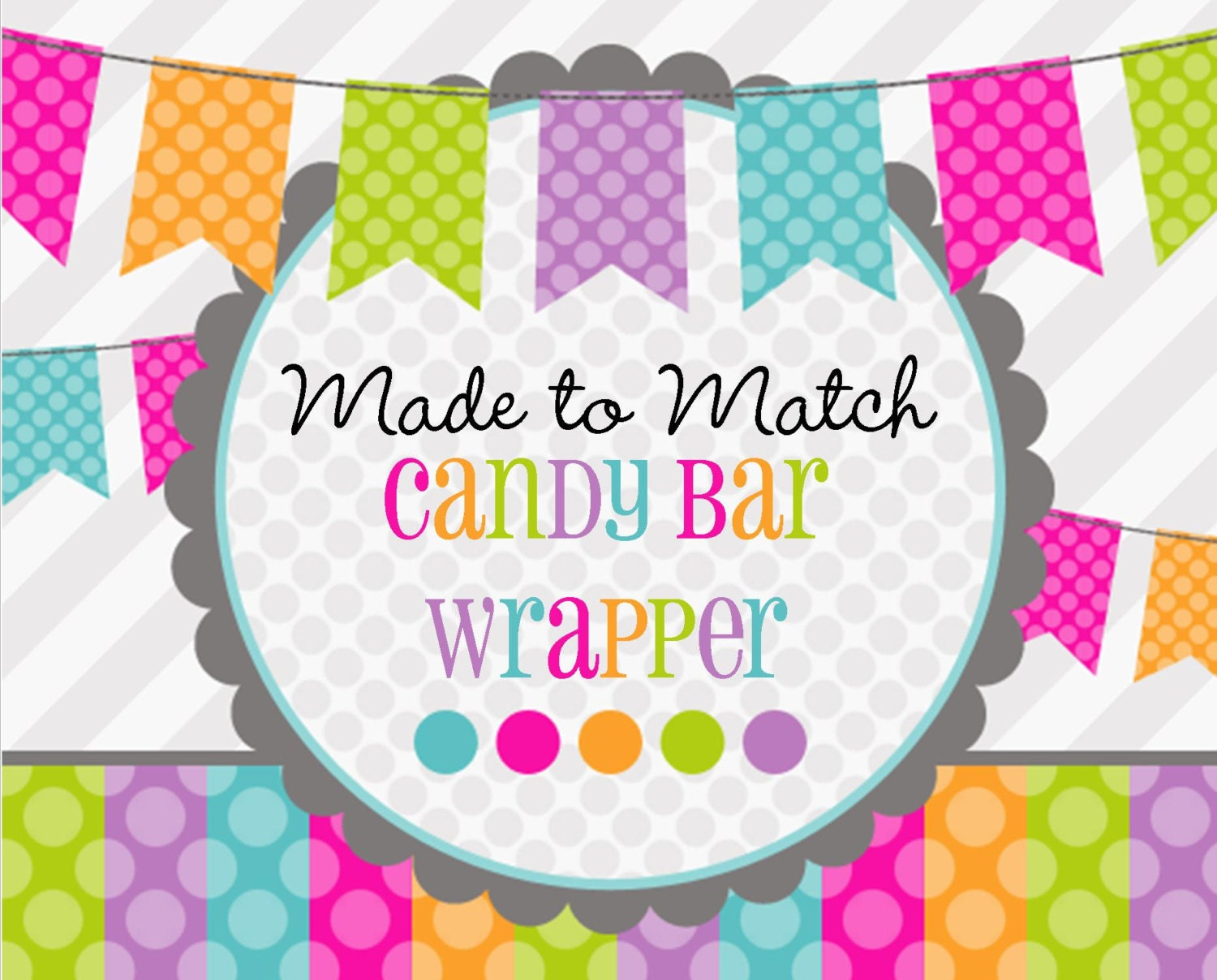 Made 2 match printable candy bar wrapper birthday favors for Candy bar wrappers template for baby shower printable free