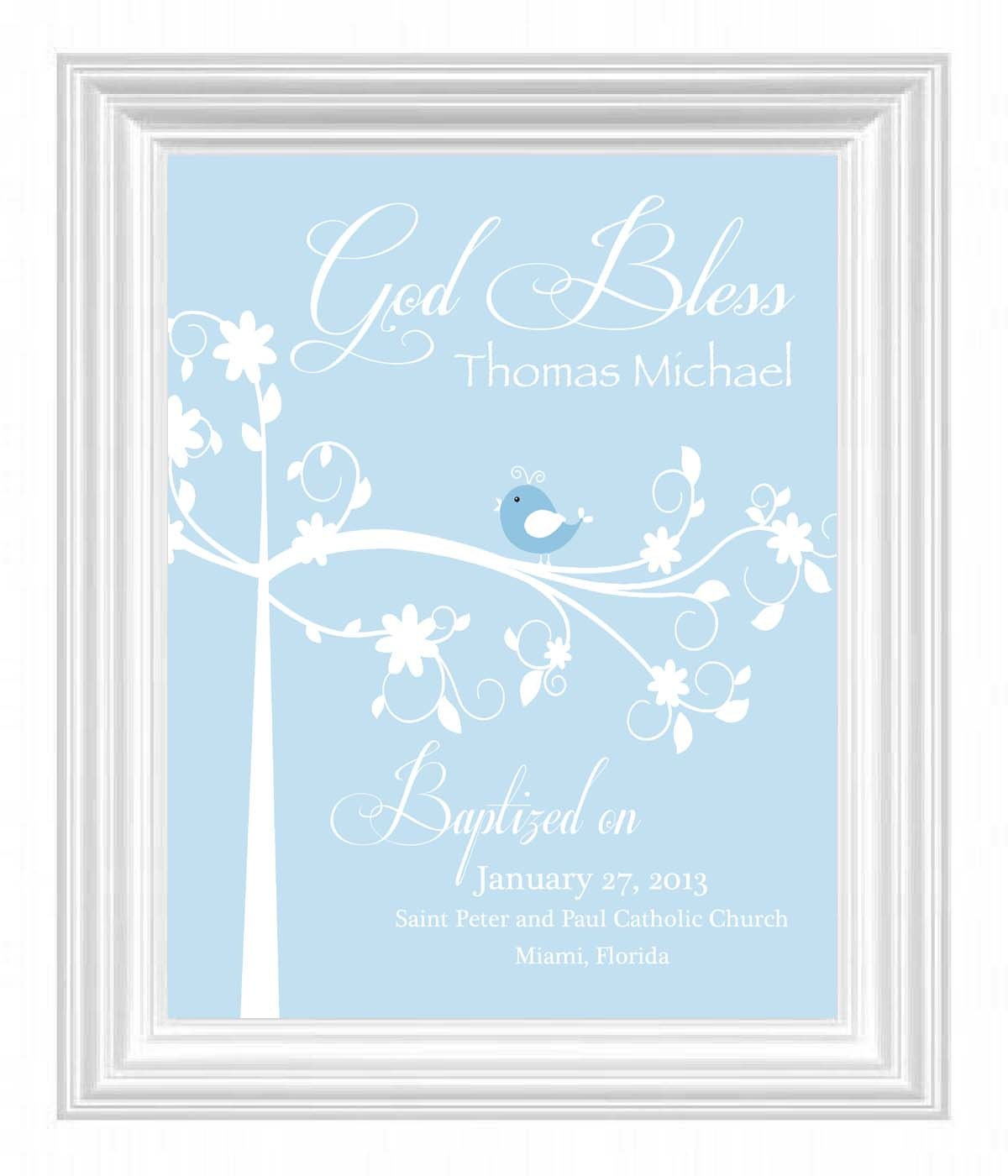 Christening gift baptism gift baby boy personalized print - Gifts for baby christening ideas ...