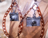 Camera film earrings