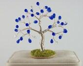 September Birthstone Tree - Sapphire Czech Glass