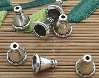 35pcs dark silver tone Cone spacer beads 11x10mm h3676