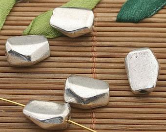 15pcs dark silver tone Scree spacer beads h3681