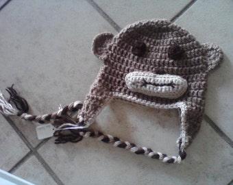 Monkey Hat - Crocheted