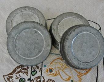 Vintage Style Mason Jar Lids - Look Like the Vintage Zinc LIds - DIY Mason Jar Canisters