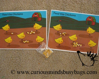 PDF file - Feed the chickens - numbers 1-10