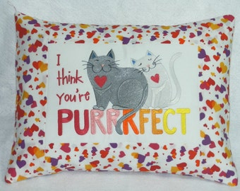 I Think You're Purrrfect Pillow Cover - READY TO SHIP