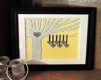 Perfect Wedding Gift - Blended Family - Personalized X-Large Family Tree with Poem 3D Paper Tree - 1st Dance Song Lyrics 10x13 Framed