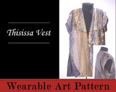 Thisissa Vest - features long, graceful curved pieced lines