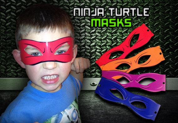 This is an image of Modest Ninja Turtle Printable Mask