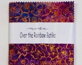 "Over the Rainbow 'Color Wheel' by Laundry Basket Quilts for Moda Fabric. 40 5"" squares charm pack. 41013PP"