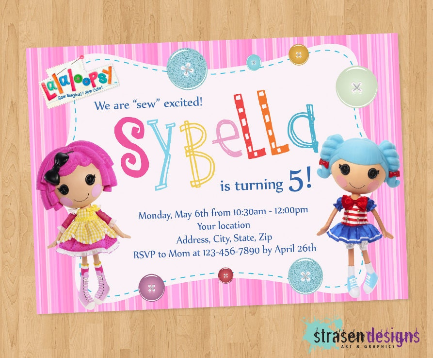 Pretty Lalaloopsy Birthday Invitations Printable Pictures ...