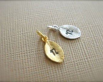ONE White Gold Plated Or 16K Gold Plated Or Rose Gold Plated Stamping Leaf Add-on