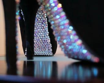 """Custom """"Broadway"""" Swarovski Rhinestone on Bottom Shoes"""
