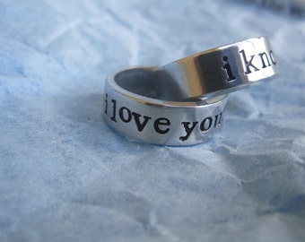 I love You   I know   I love You  2 rings