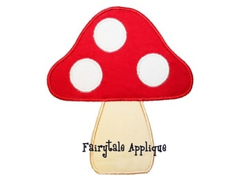 Digital Machine Embroidery Design - Toadstool Applique