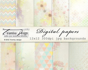 Scrapbook Papers and Digital Paper Pack 20-Summer Delight