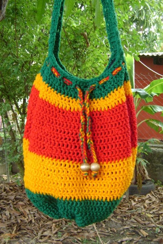 Items similar to ILA RasTafari Ethiopia Dawta Bag ...