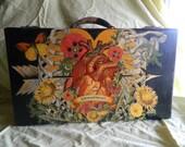 LIMITED TIME SALE! Walking Art, Upcycled Vintage Suitcase, Original Art