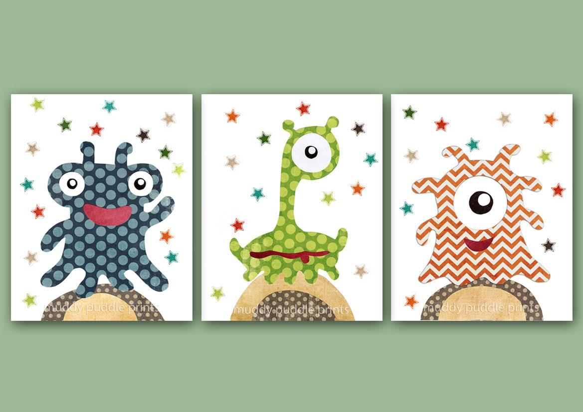 Nursery art print nursery decor kids room by muddypuddleprints for Outer space decor for nursery