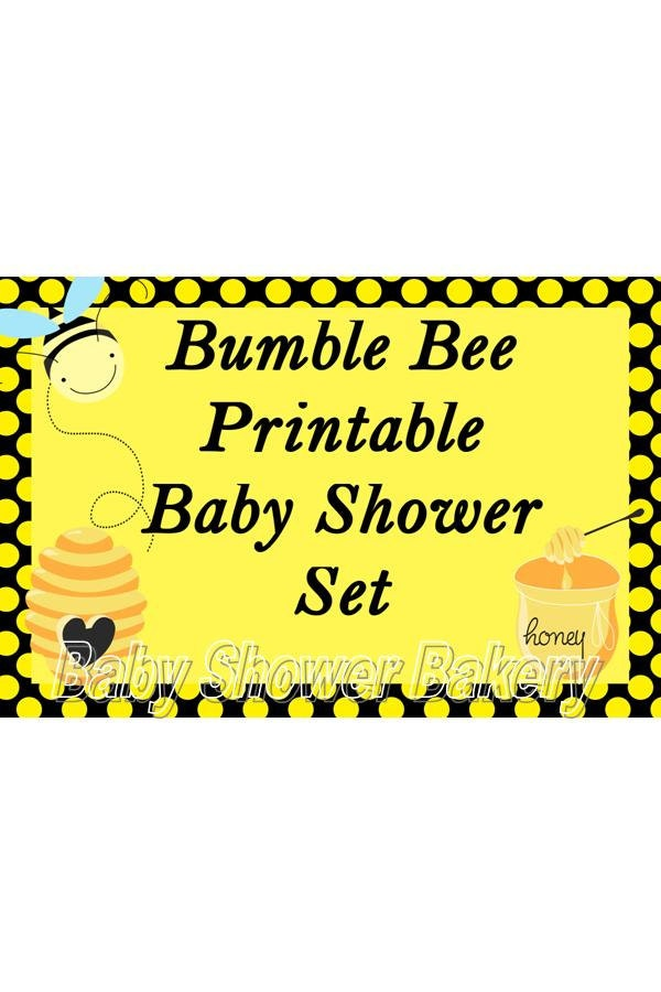 bumble bee baby shower printables photo4