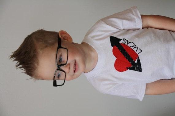 Heart shirt boy valentine shirt baby boy shirt custom shirt kids
