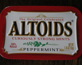 10 Altoid Tins-Empty Altoid Tins-Peppermint Altoid Tins-Metal Tins-Altoid containers-Altoid supplies-Craft Supply
