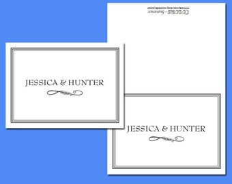 Personalized Stationery, Wedding, Couples, Thank You, Notes, 20 notecards and envelopes