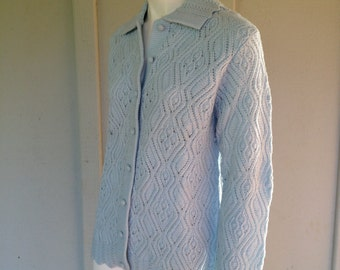 Baby Blue Vintage Sweater Bee By Banff