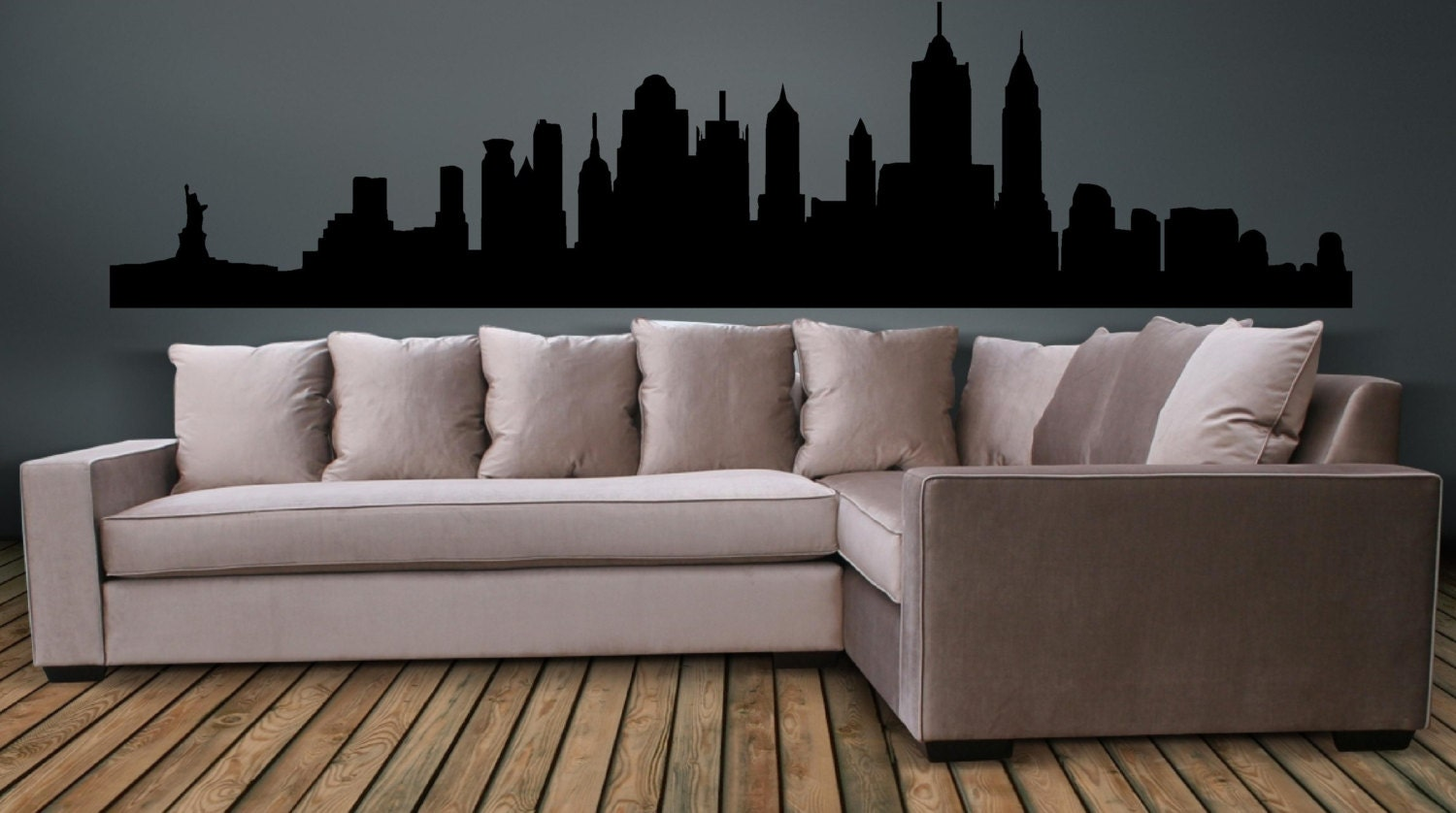 New York City Wall Art new york city skyline wall decal wall art sticker