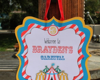 Circus Carnival  welcome sign