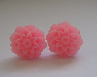 CLEARANCE Pink Dahlia Earrings