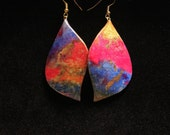 Fire and Ice - Watercolor Earrings